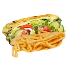 Chips & Salad Kebab